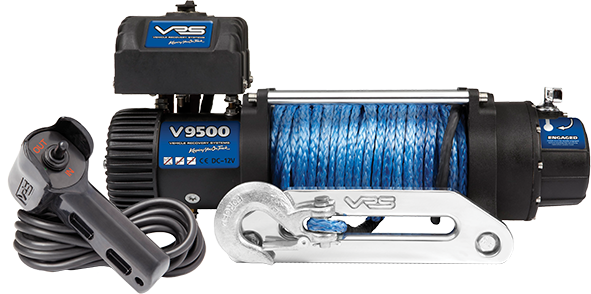 Synthetic Rope 4X4 Winch - 9500lbs
